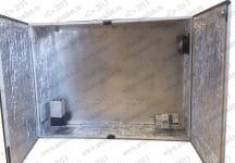 Термошкаф 'Амадон' всепогодный вентилируемый, с обогревом. Металлический корпус, биметаллический термостат. Размеры (ШхВхГ): 1000x760x210 мм. Мощность обогрева: 250 Вт. Вентиляция с фильтрами IP55, пропускная способность 40 м3/час. Класс защиты IP55