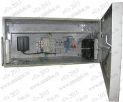 ТША112-50.25.25-50-IP54- Термошкаф 'Амадон' всепогодный с обогревом и вентиляцией. Размеры (ШхВхГ): 500x250x250 мм. Мощность обогрева: 50 Вт. Класс защиты IP54, исполнение У1 (эксплуатация на открытом воздухе, +40..-45 С). +  полка 200 мм. + гермоводы Hensel ASS-16, ASS-20