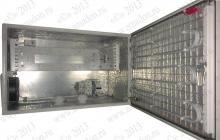 """ТША222-60.38-3U.35-100-У1 Термошкаф 'Амадон' всепогодный вентилируемый, с обогревом (греющий кабель). Размеры ШхВхГ: 600х380х350мм, установлен 19"""" кронштейн 3U. Мощность обогревателя: 100 Вт. Вентиляция с фильтрами IP55, пропускная способность 40 м3/час. Класс защиты IP55, исполнение У1 (до -45 C)"""