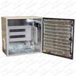 """ТША222-60.60-6U.40-165-У1 Термошкаф 'Амадон' всепогодный вентилируемый, с обогревом (греющий кабель). Размеры ШхВхГ: 600х600х400мм, установлен 19"""" кронштейн 6U. Мощность обогревателя: 165 Вт. Вентиляция с фильтрами IP55, пропускная способность 40 м3/час. Класс защиты IP55, исполнение У1 (до -45 C)"""