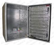 ТША120-40.60.40-115-У1 Термошкаф 'Амадон' всепогодный с обогревом (греющий кабель). Размеры (ШхВхГ): 400x600x400 мм. Мощность обогрева: 115 Вт. Без вентиляции. Степень защиты IP66, исполнение У1 (в уличных условиях, при t до -45 С).