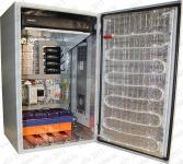 Термошкаф Амадон серии ТША128, всепогодный.Размеры 380х600х350мм(Ш х В х Г ). С кабельным обогревом -100Вт. Мощность охлаждения (элемент пельтье) -  100Вт. С установленным видео-регистратором,система беcперебойного питания, электронный термостат, грозозащита по питанию и видео сигналу DC12V,  ethernet.