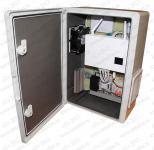 ТША512-40.50.19-Исп.1 Термошкаф в пластиковом корпусе с обогревом и вентиляцией. Электронный контроллер климата. Предназначен для подключения IP-видеокамер по Etnernet и Wifi, передача сигнала на сервер по оптоволокну и Etnernet. Диаграма подключения  WiFi - 360 гр. Установлены УЗИП по питанию AC 230V, по Ethernet (5 шт).